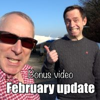 Bonus video: February update