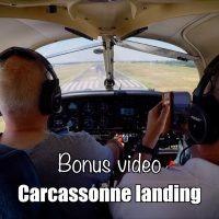 Bonus video: Carcassonne landing