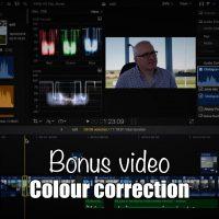 Bonus video: Colour correction