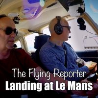 Flying into Le Mans