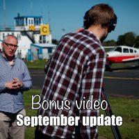 Bonus video: September update