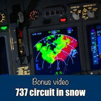 737 (simulator) circuit in the snow