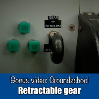 Groundschool:  Retractable undercarriage
